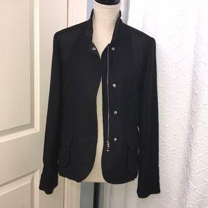 Bogner Zip-Up Mesh Shell Jacket  - size 10